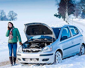Авто в мороз